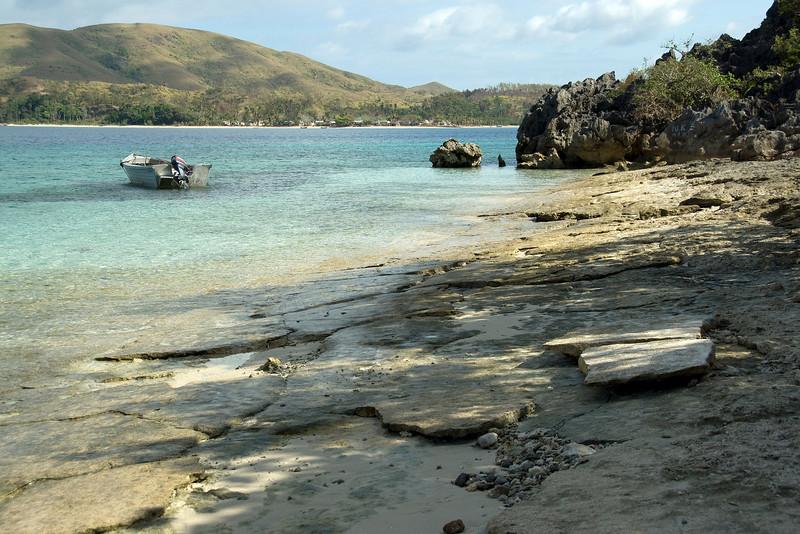 Rocky beach in Yasawa Islands, Fiji