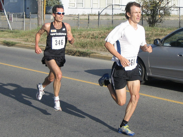 2005 Run Cowichan 10K - The CalTAF runners were closely matched