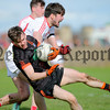 Philip Magowan Photography - Northern Ireland - 19 March 2017<br /> <br /> Pictured: Paul Hughes and Louth's Eoin O'Connor.<br /> <br /> Picture: Philip Magowan