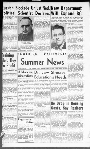 Summer News, Vol. 3, No. 23, August 19, 1948