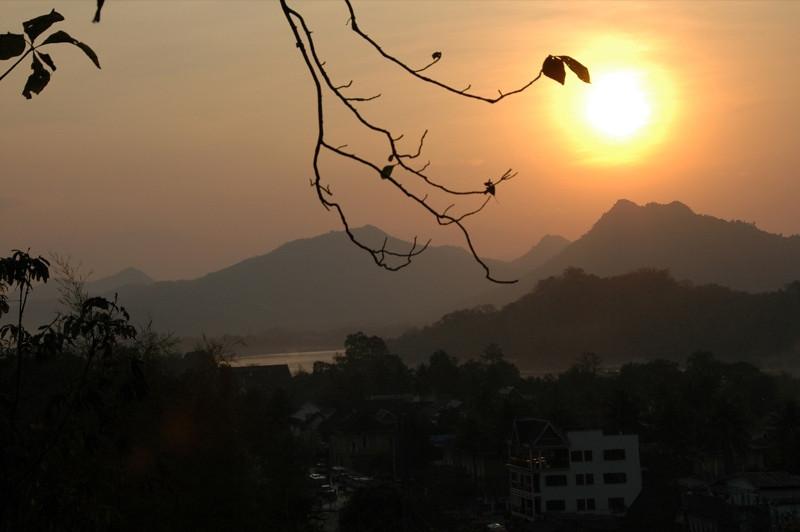 Sunset over Mekong River - Luang Prabang, Laos