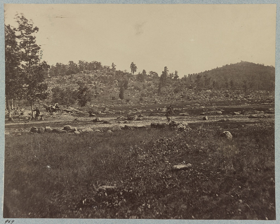 . The battle-field of Gettysburg. Little Round Top and Round Top - Library of Congress Prints and Photographs Division Washington, D.C.