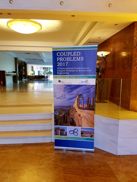 I attended and gave a talk at the VII International Conference on Coupled Problems in Science and Engineering (COUPLED 2017).