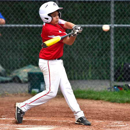 6/25/2019 Mike Orazzi   Staff Forestville's Aiden Smith (2) during Tuesday's baseball game with Wallingford in Bristol.