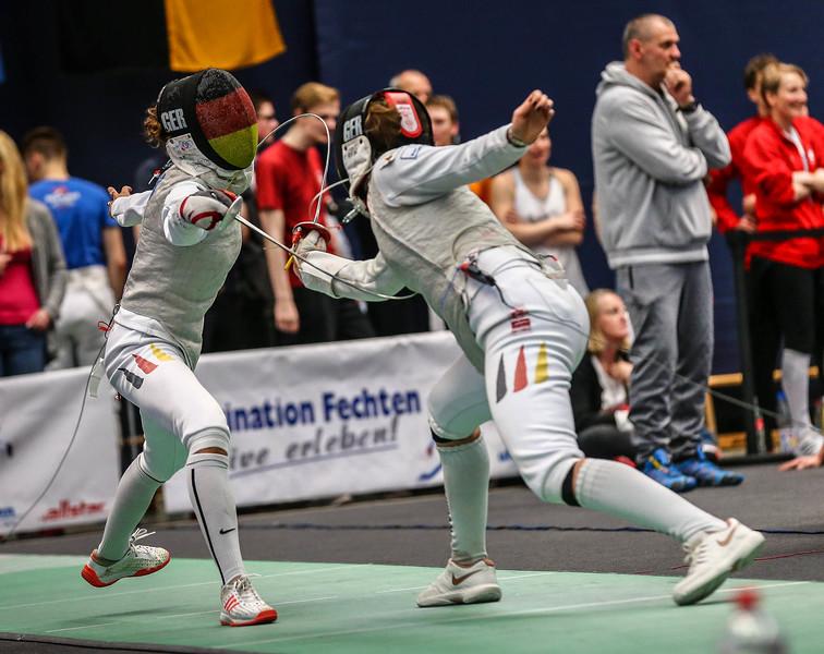 ; Tauberbischofsheim, Deutschland - 23.03.19; Deutsche Florettmeisterschaften 2019 - Herren-/Damenflorett     Photos by: Jan von Uxkull-Gyllenband