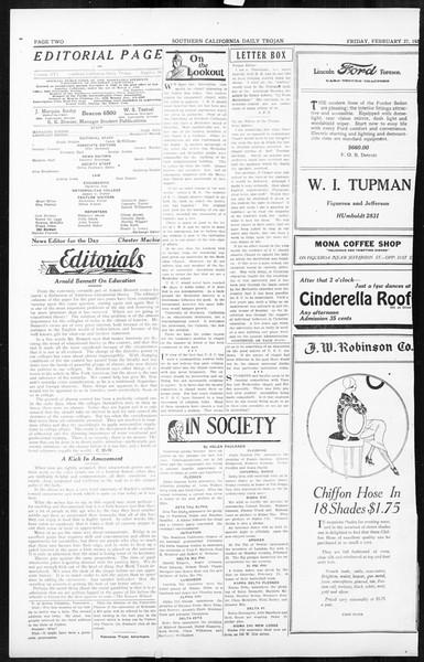 Daily Trojan, Vol. 16, No. 58, February 27, 1925