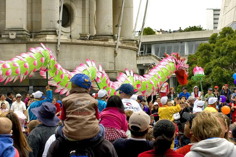 Dragon Santa Parade Auckland New Zealand - 27 Nov 2005