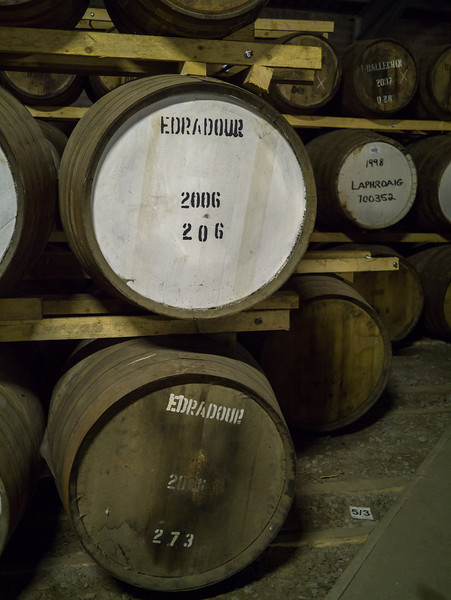 Whisky storage barn at the Edradour Distillery