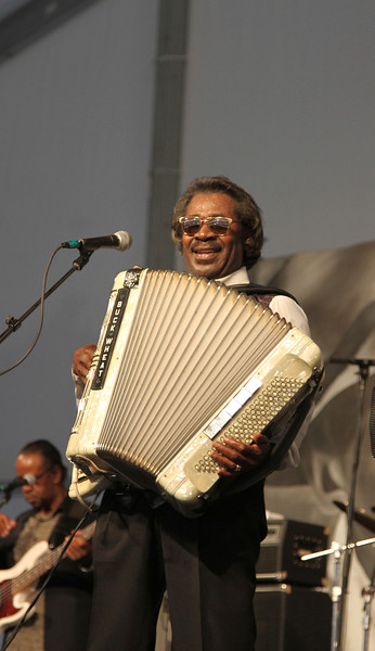 Buckwheat Zydeco at New Orleans Jazz Fest 2012