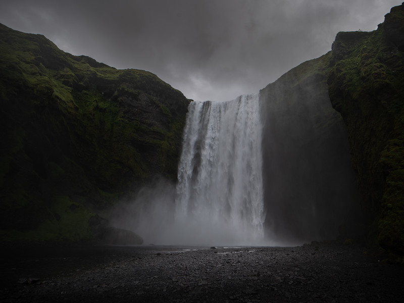 Black and White Waterfall Majesty    Black and White Photography by Wayne Heim