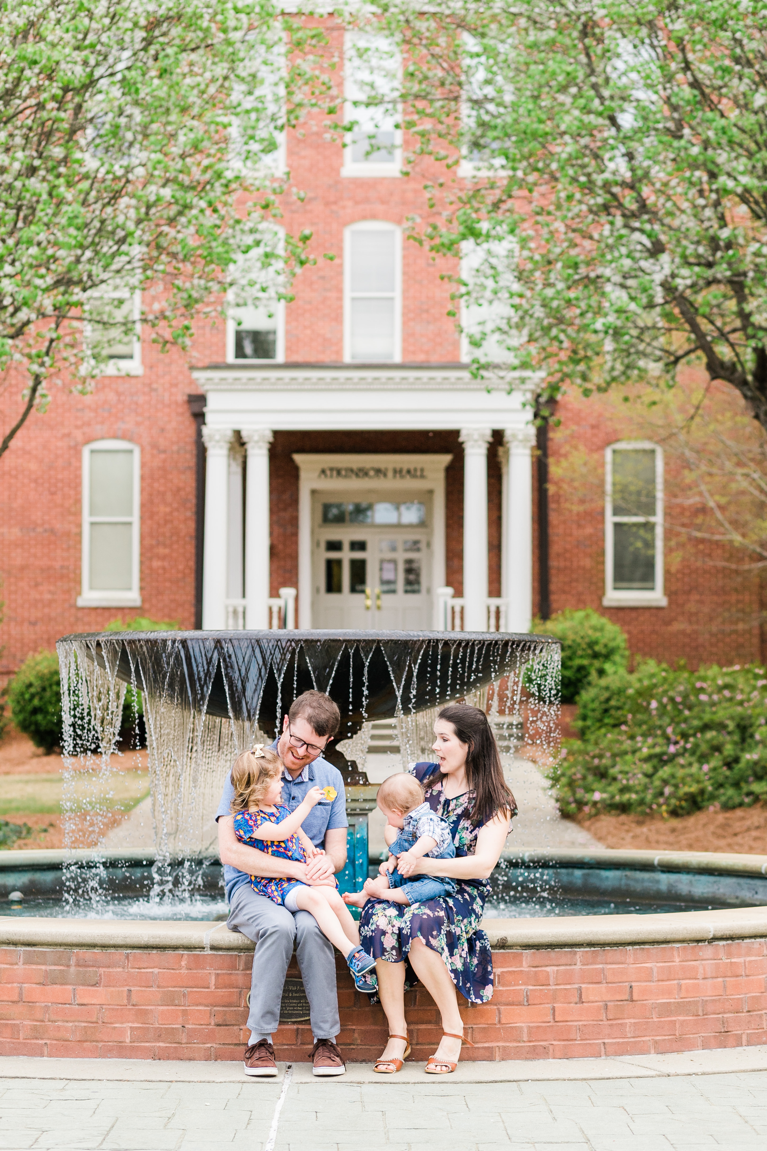 Brent and his wife is Kendra are both alumni who work in the College of Business. Their children are Simon and Lucy. Photo by Rachel Linder.