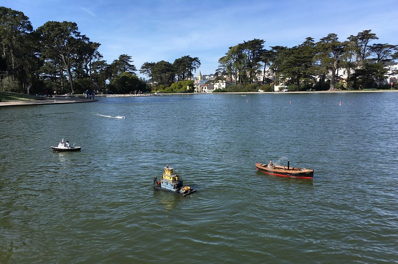 Model boats on Spreckels Lake