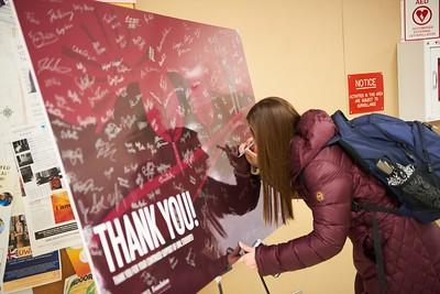 2016 UWL Student Philanthropy Card Signing Thank You