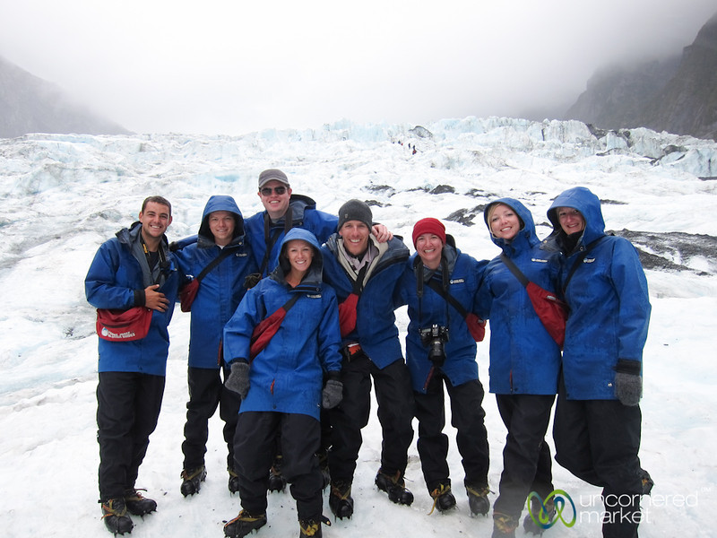 Our G Adventures Group at Franz Josef Glacier - South Island, New Zealand