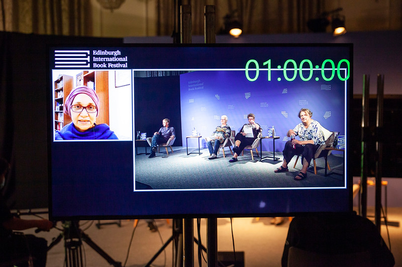 Leila Aboulela in Aberdeen joins Doug Johnstone, Val MdDermid, Jo Sharp and Jo Clifford to Discuss Imagine a Country at the Edinburgh International Book Festival Online