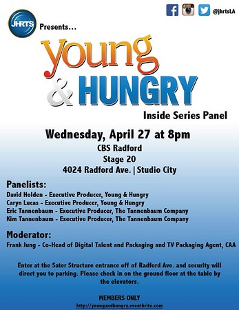 JHRTS Young and Hungry Inside Series Panel (4/27/16)