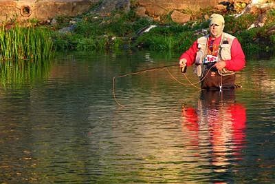 Fishing at Bennett Springs