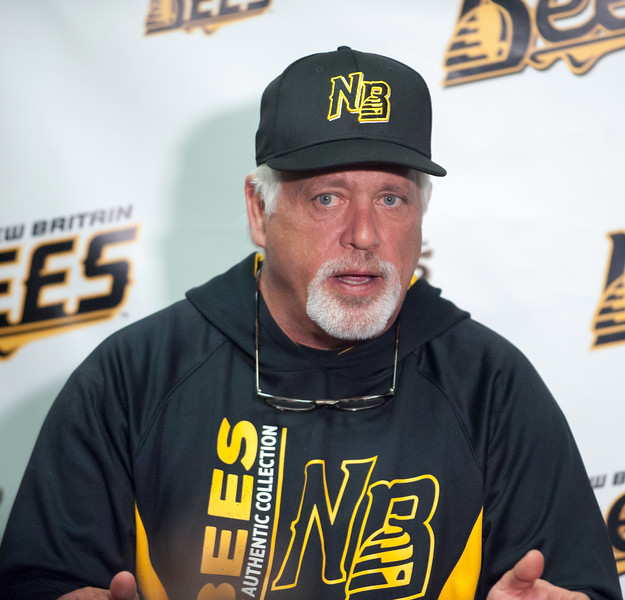 04/25/18  Wesley Bunnell | Staff  The New Britain Bees held their media day on Wednesday April 25. Head coach Wally Backman.