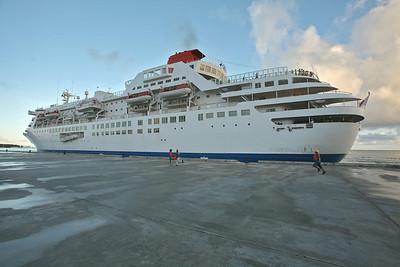 Arrival of M/S Fuji Maru on Saipan