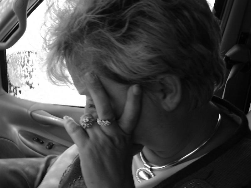 Linda in Car BW.jpg
