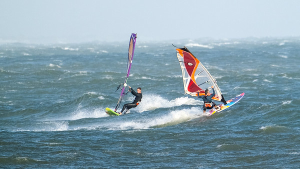 Windsurfing at Mudeford