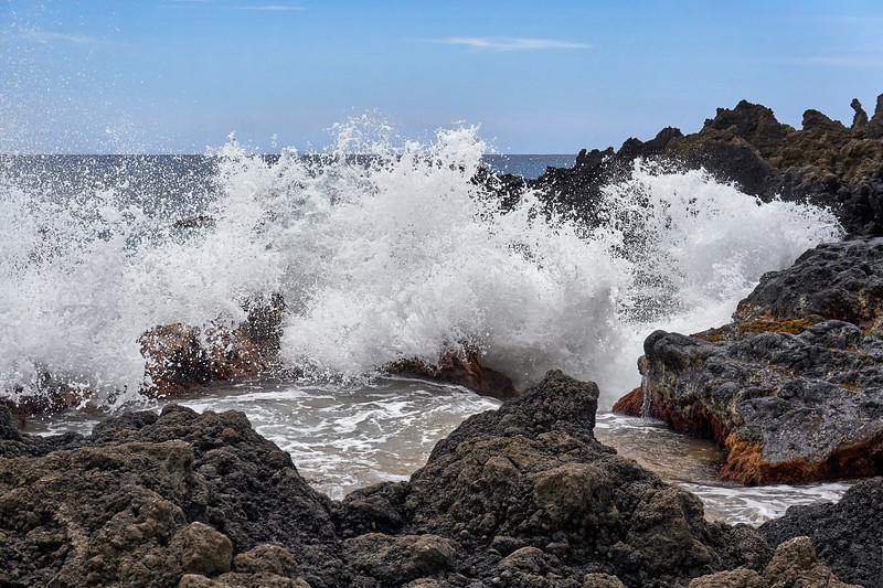 Lava Meets the Sea at La Perouse Bay