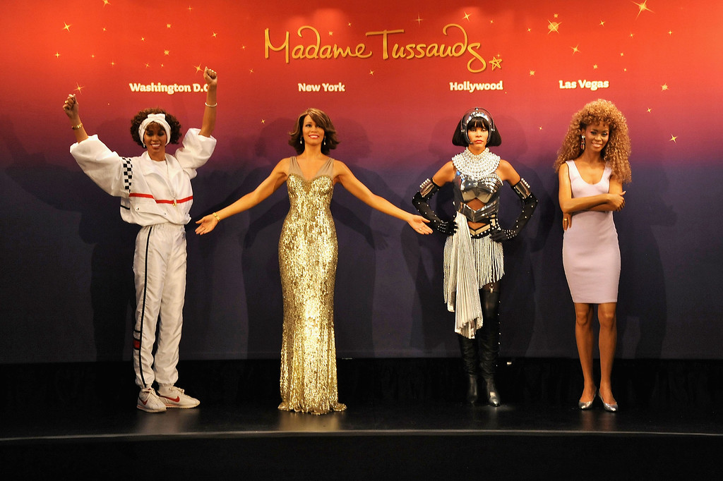 . Madame Tussauds unveils four wax figures of Whitney Houston-- the first time four figures of the same individual have been simultaneously released-- on February 7, 2013 in New York City.  (Photo by Jennifer Graylock/Getty Images for Madame Tussauds)