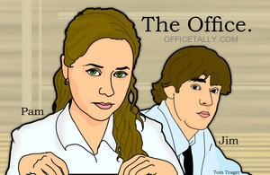 The Office Jim Halpert Pam Beesly Tom Trager