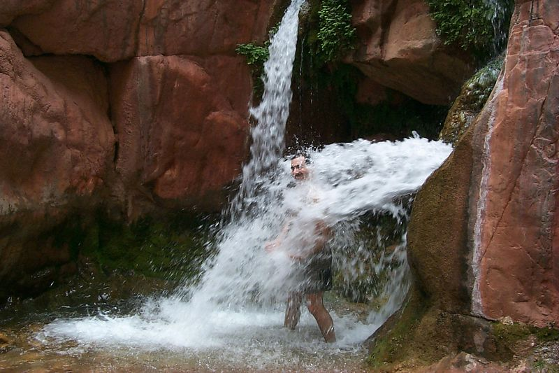 Joel at Clear Creek Falls   (Jun 01, 1999, 02:01pm)