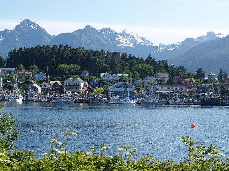 ANB and Thomsen Harbors in Sitka from Japonski Island (2009).