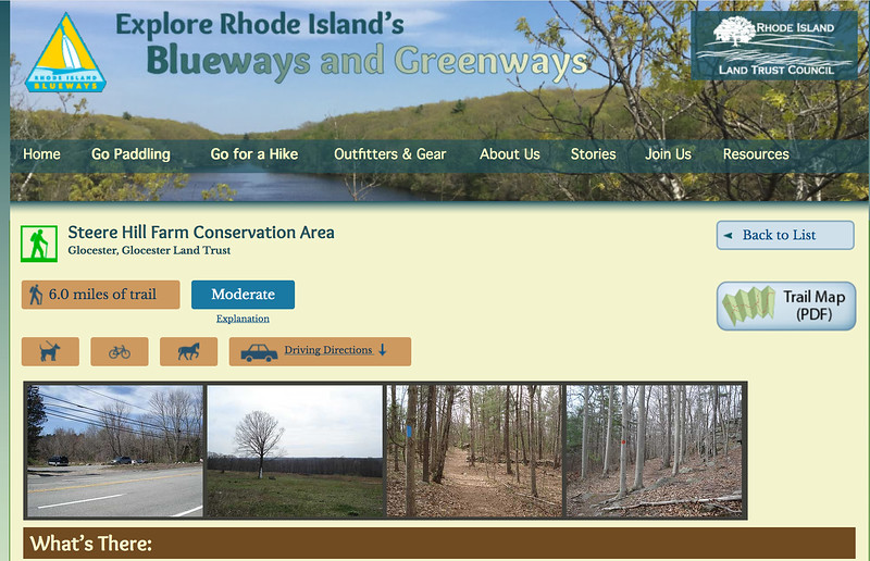Rhode Island: Steere Hill Town Forest