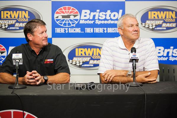 NASCAR personalities at Bristol Motor Speedway 07-16-13