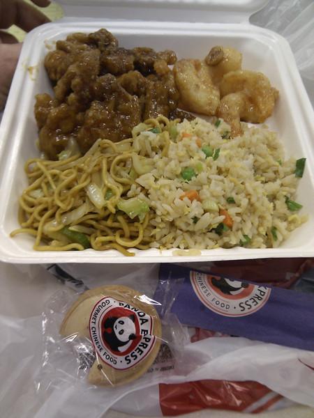 Panda Express - Orange Chicken, Walnut Prawns, Chow Mein, Fried Rice