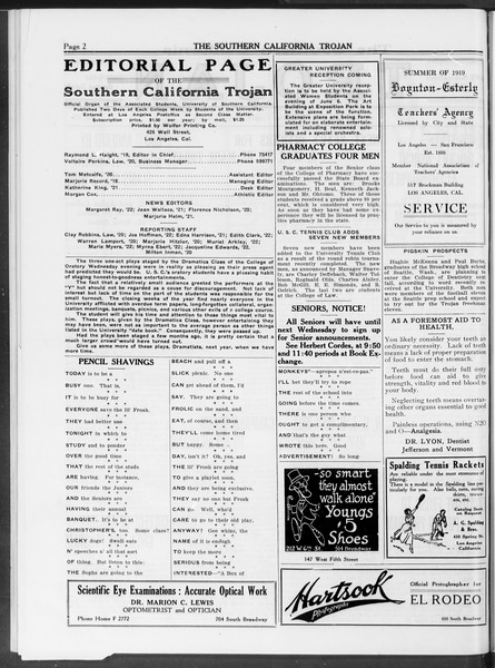 The Southern California Trojan, Vol. 10, No. 23, May 16, 1919