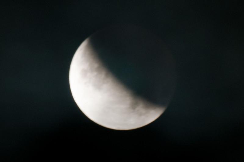 Lunar Eclipse Maximum Eclipse, Partial Moon @ 4:33am Saturday, June 26, 2010