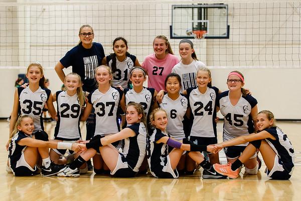 CC Jr. High Volleyball vs Clinton Central 2018-10-2