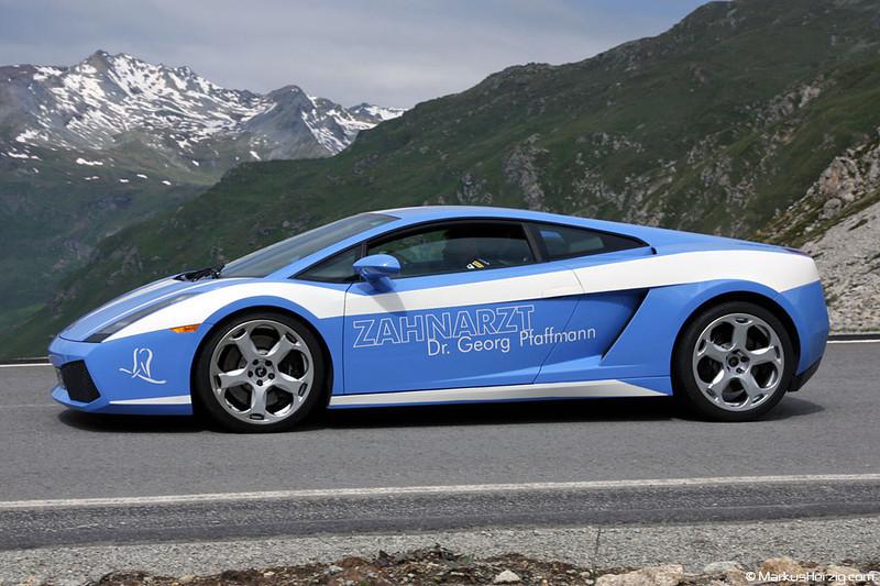 Lamborghini Gallardo - Zahnarzt Dr Georg Pfaffmann @ Julier Switzerland 25Jun11