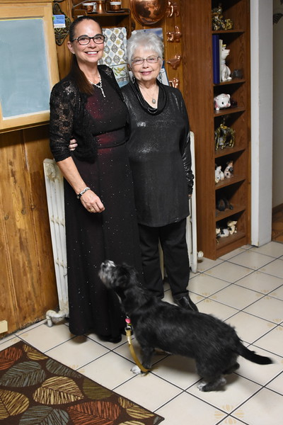 Fur Ball: 2019: Darlene and Dawn in Dress for Event
