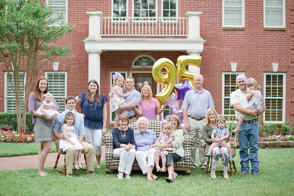Granny's 95th Birthday Family Portraits