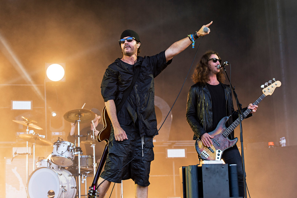 . Stephan Jenkins, left, and Alex LeCavalier of Third Eye Blind seen at 2016 Outside Lands Music Festival at Golden Gate Park on Sunday, Aug. 7, 2016, in San Francisco, Calif. Third Eye Blind will be at Jacobs Pavilion on July 8. For more information, visit nauticaflats.com/events. (Photo by Amy Harris/Invision/AP)