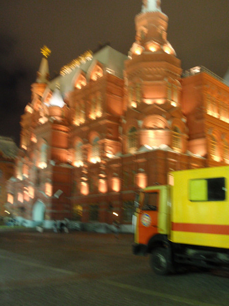 Outer Red Square, lit up at night.