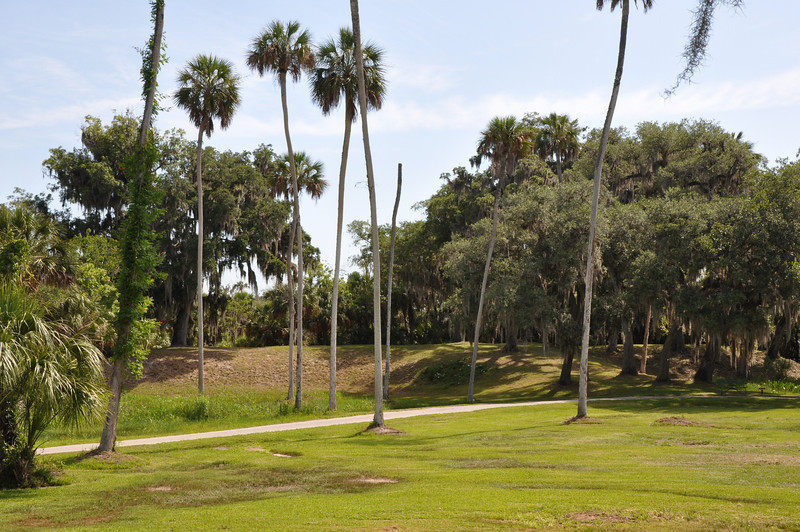 Crystal River Archaeological State Park consists of six pre-historic ceremonial mounds from the native Indians dating back to 200 B.C.  The visitors center displays artifacts from excavations however many things still remain a mystery about these burial mounds.