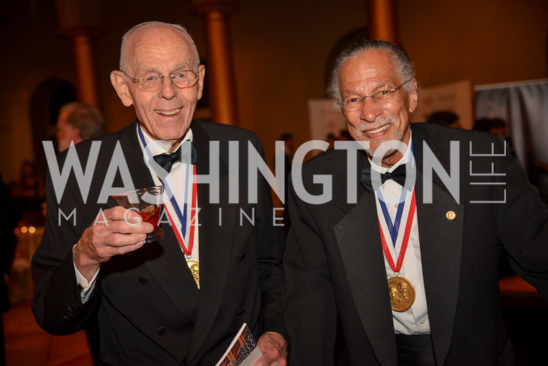 Dr. Gerhard Sessler, Dr. Jim West National Inventors Hall of Fame, Induction at the National Building Museum, May 3, 2018-9032.JPG