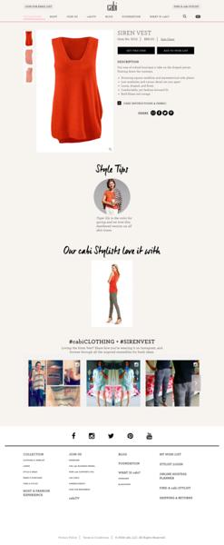 Cabi e commerce shopping fashion website