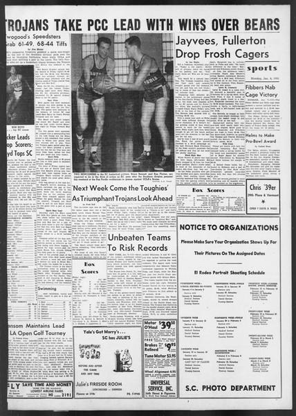 Daily Trojan, Vol. 42, No. 64, January 08, 1951