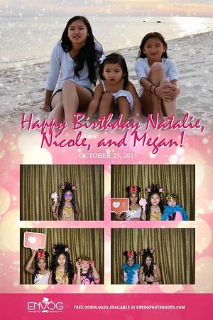 Happy Birthday Natalie, Nicole, & Megan (prints)