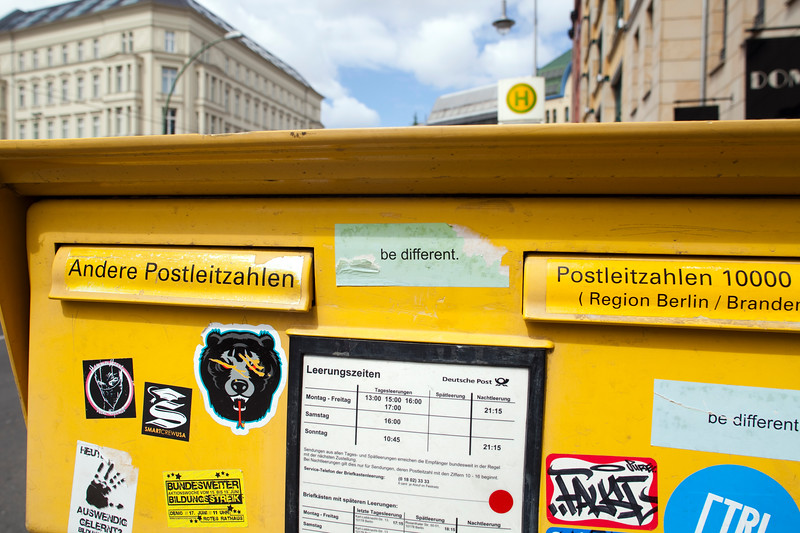 Close-up of a postbox, Berlin, Germany
