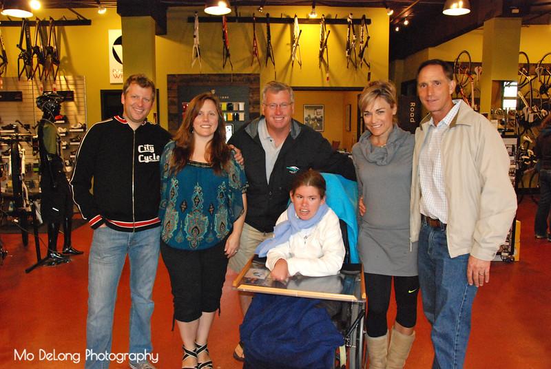 Cory and Lisa Farrer, John Mathews, Dorette and Duane Franks and Katerine Mathews