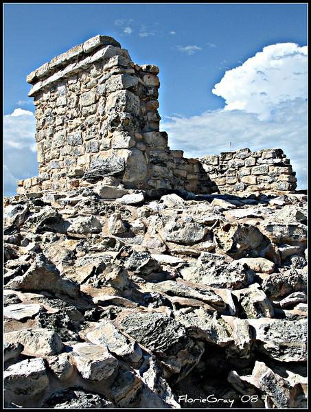 Mayan Temple of the Moon Goddess  Isla Mujares, Mexico