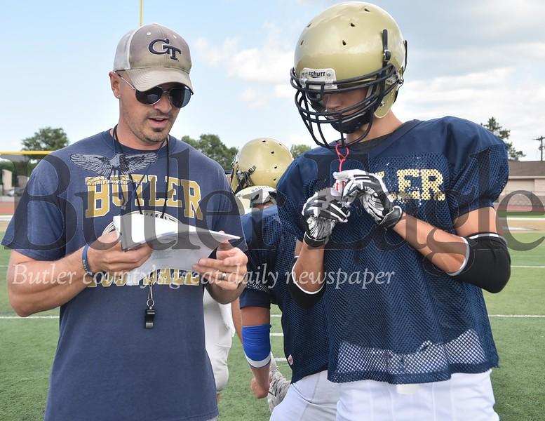95492 Butler High School football practice